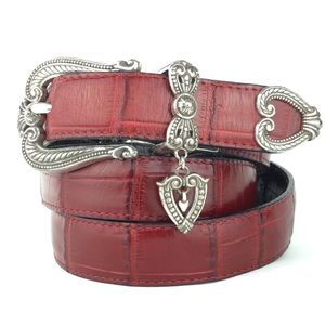 Brighton vintage reversible leather belt